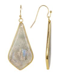 Panacea | Multicolor Labradorite Linear Triangle Drop Earrings | Lyst