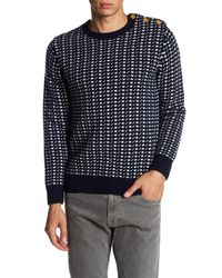 Barque - Blue Dot Knit Sweater for Men - Lyst
