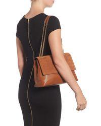 Ted Baker - Brown Sophina Suede Shoulder Bag - Lyst