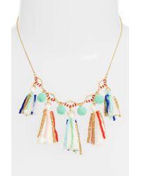 Rebecca Minkoff - Metallic Tassel & Pompom Necklace - Lyst