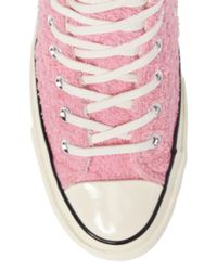 Converse - Pink Chuck Taylor All Star 70s Fuzzy Bunny Hi Top Sneakers (unisex) - Lyst