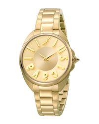 Just Cavalli - Metallic Women's Logo Quartz Bracelet Watch, 34mm - Lyst