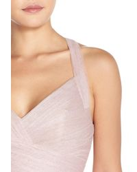 Monique Lhuillier Bridesmaids - Pink Sleeveless V-neck Tulle Gown - Lyst