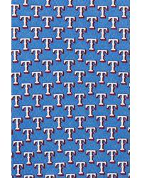 Vineyard Vines - Blue 'texas Rangers - Mlb' Print Silk Tie for Men - Lyst