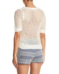 Endless Rose | White Faux Pearl Embellished Sweater | Lyst