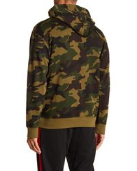Obey - Green Automatic Logo Camo Hoodie for Men - Lyst