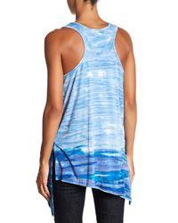 Fifteen Twenty | Blue Asymmetrical Tie-dye Tank | Lyst