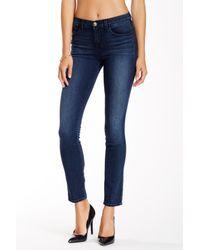 J Brand - Blue Mid Rise Skinny Jean - Lyst
