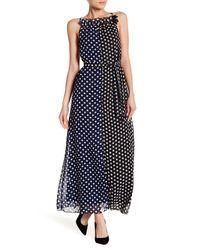 Haute Rogue - Black Polka Dot Maxi Dress - Lyst