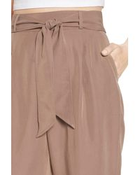 Leith - Brown Tie Waist Pants - Lyst