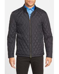 Vince Camuto - Black Quilted Moto Jacket for Men - Lyst