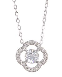 Nadri - Metallic Floral Pave Stud Earrings & Necklace 3-piece Set - Lyst