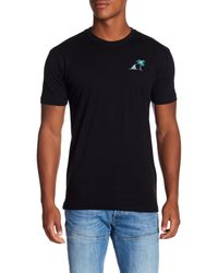 Riot Society - Black Shark Fin Embroidery Tee for Men - Lyst
