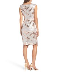 Vince Camuto - Multicolor Sequin Body-con Dress - Lyst