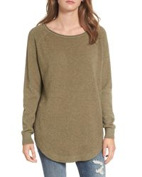 Dreamers By Debut - Green Shirttail Hem Sweater - Lyst