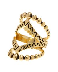 Ariella Collection | Metallic Metal Shield Ring | Lyst