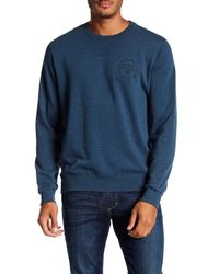 RVCA | Blue Pepper Crew Neck Sweatshirt for Men | Lyst
