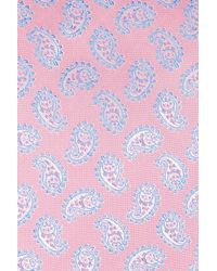 Eton of Sweden | Pink Paisley Silk Tie for Men | Lyst