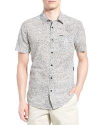 Volcom | Multicolor New Noise Trim Fit Short Sleeve Print Woven Shirt for Men | Lyst