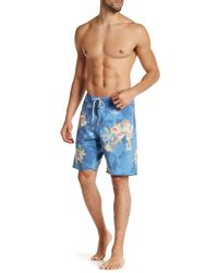 Volcom - Blue Printed Board Short for Men - Lyst