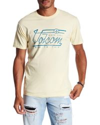 Volcom | Yellow Straight Up Graphic Tee for Men | Lyst