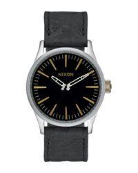 Nixon | Black Men's Sentry 38 Leather Watch for Men | Lyst