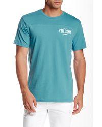 Volcom - Blue Serum Crew Neck Tee for Men - Lyst