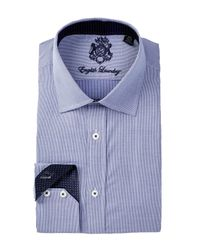 English Laundry | Blue Plaid Cotton Dress Shirt for Men | Lyst