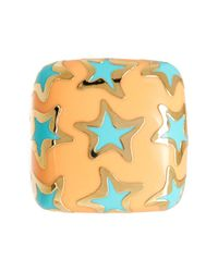 Ariella Collection - Multicolor Enamel Star Ring - Lyst