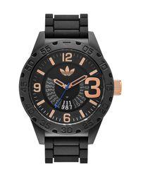 Adidas Originals   Black Men's Newburgh Chronograph Strap Watch for Men   Lyst