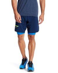 Lyst - Reebok Osr Two-in-one Short in Blue for Men 4d230529e34ec