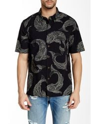 Quiksilver - Black Juno Beach Woven Short Sleeve Regular Fit Shirt for Men - Lyst