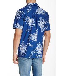 Quiksilver - Blue Rivieras Woven Short Sleeve Regular Fit Shirt for Men - Lyst