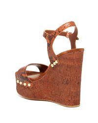 Ash - Brown Biba Wedge Sandal - Lyst