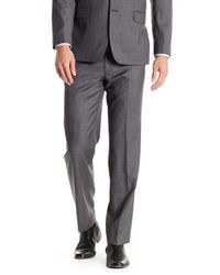 Tommy Hilfiger | Gray Sharkskin Wool Flat Front Pant for Men | Lyst