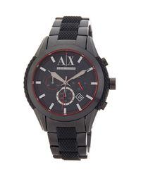 Armani Exchange | Black Men's Quartz Chronograph Bracelet Watch for Men | Lyst