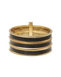 House of Harlow 1960 | Metallic The Titaness Leather Bangle Bracelet | Lyst
