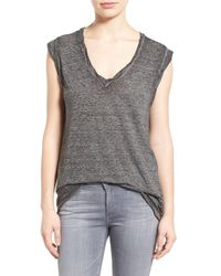 Pam & Gela | Gray V-neck Muscle Tee | Lyst