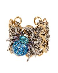 Betsey Johnson - Metallic Spider Cuff - Lyst
