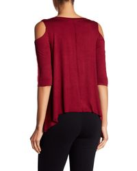 Bailey 44 | Red Cold Shoulder Shirt | Lyst