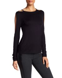 Bailey 44 | Black Cold Shoulder Open Sleeve Shirt | Lyst