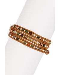 Chan Luu | Multicolor Assorted Stone Beaded Leather Wrap Bracelet | Lyst