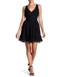 BB Dakota - Black Lanson Contrast Lace A-line Dress - Lyst