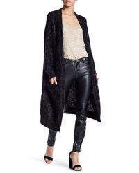 BB Dakota | Black Long Sleeve Fuzzy Knit Cardigan | Lyst