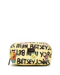 Betsey Johnson | Yellow Cosmetic Bag | Lyst