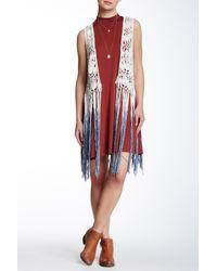 Betsey Johnson - Red Crochet Vest Cover-up - Lyst