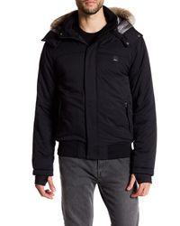 Bench   Black Thought Faux Fur Trimmed Jacket for Men   Lyst