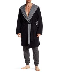 Bread & Boxers | Black Hooded Thermal Robe for Men | Lyst
