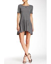 BCBGeneration   Gray Short Sleeve Hi-lo Jersey Knit Dress   Lyst