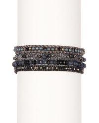 Chan Luu - Black Crystal Mix Beaded Wrap Bracelet - Lyst